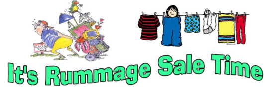 rummage sale time